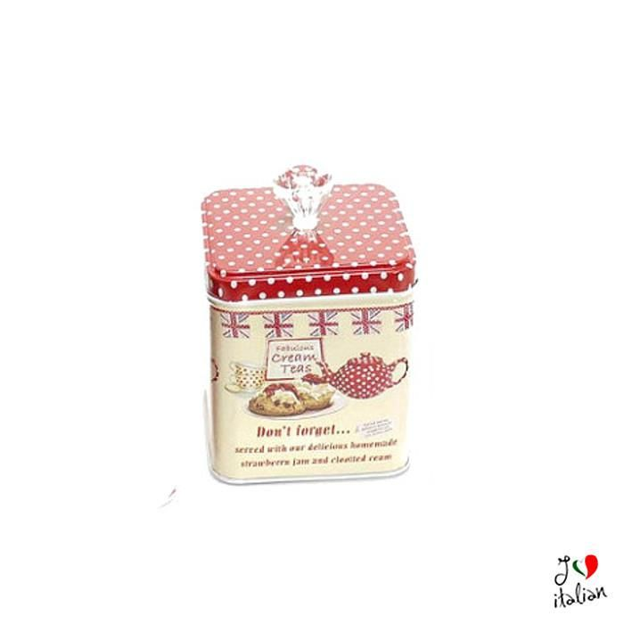 Medium Red metal container with cap - Kitchen - €7.90