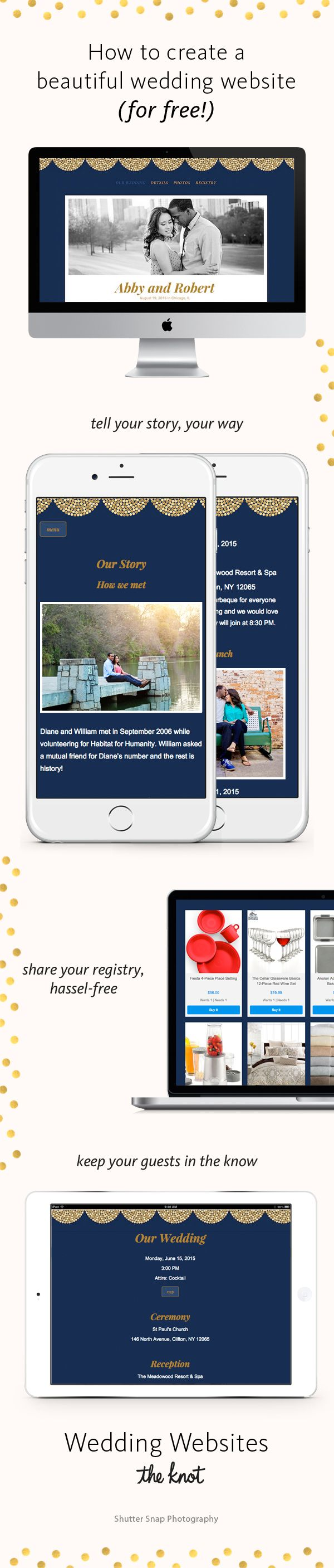 With The Knotu0027s Wedding Websites, Theyu0027re