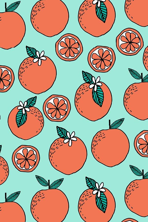 oranges // florida citrus fruits summer blue orange food kids tropical citrus by andrea_lauren.  Bright hand illustrated oranges on a turquoise background.  Available in fabric, wallpaper, and gift wrap. oranges // florida citrus fruits summer blue orange food kids tropical citrus by andrea_lauren.  Bright hand illustrated oranges on a turquoise background.  Available in fabric, wallpaper, and gift wrap.