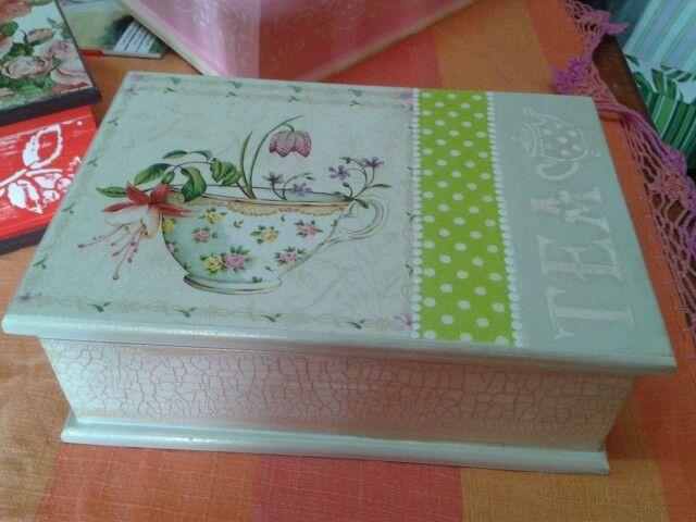 M s de 1000 im genes sobre maderitas en pinterest - Manualidades pintar caja metal ...