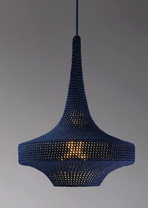 Knit lamp by Naomi Paul