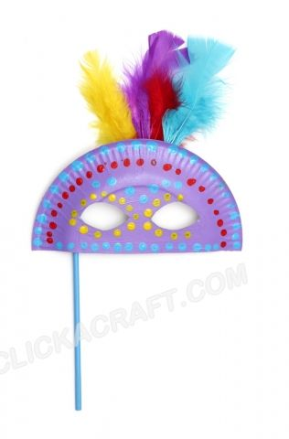 Paper Plate Masquerade Mask Craft