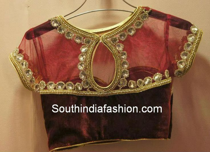 f9c136ffd7817 South Indian Fashion Blouse Neck Designs  Blouse patterns Embroidery rh  pinterest.com