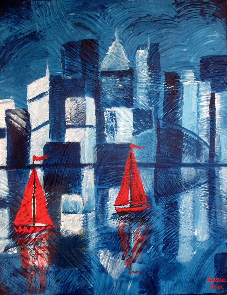 """""""Red Sails"""" by Susie Mac. Paintings for Sale. Bluethumb - Online Art Gallery"""