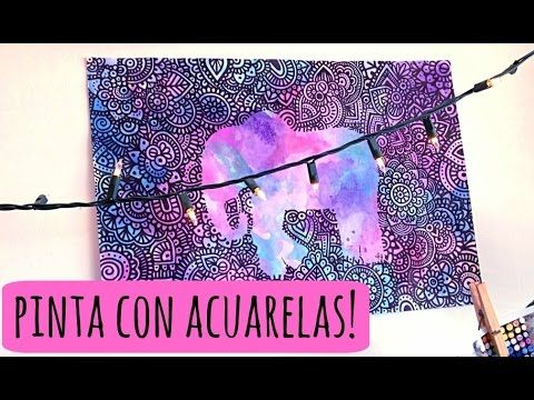Acuarelas y Sal! | Zentangle Art - YouTube