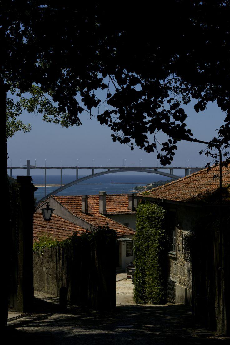 https://flic.kr/p/o8evZE | Ponte Arrabida Bridge Pont Porto Portugal Europe | (PT)  A Ponte de Arrábida é uma ponte em arco sobre o Rio Douro que liga o Porto ( pela zona da Arrábida) a Vila Nova de Gaia (pelo nó do Candal), em Portugal.  (EN)  The Arrábida Bridge is an arch bridge over the Douro River that connects Porto to Vila Nova de Gaia, in Portugal. It is the most downstream bridge across the Douro River, just a few kilometers from the Atlantic Ocean.  At the time of its completion in…