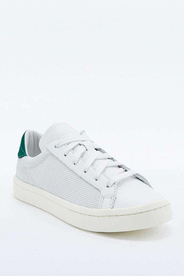 adidas Originals Court Vantage White and Green Nubuck Trainers. Flat ShoesWomen's  ShoesNike SneakersAdidas ...