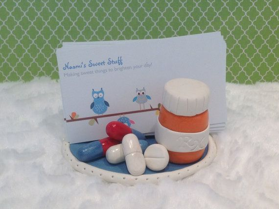 48 best polymer clay card holders ideas images on pinterest polymer clay business card holderpharmacist business card holder doctornursefunmedicinepillsprescription bottlepharmacy medical colourmoves