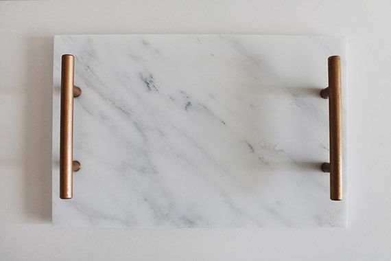 easy DIY marble tray // DIY projects