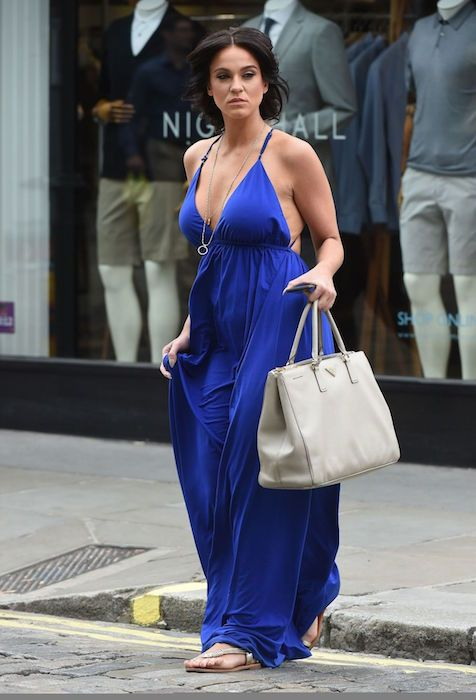 Vicky Pattison's summer style shopping in London in July 2015...