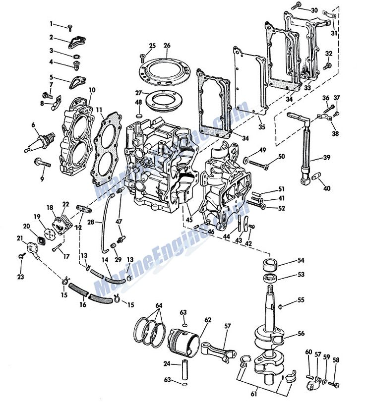 c379e07f90dd82d75a483818a0b333d3 boat engine group johnson powerhead group parts for 1967 6hp cd 24 outboard motor,Godfrey Hurricane Boat Wiring Diagram
