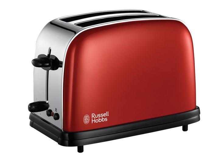 Mooi gevonden op fonQ.nl: Flame Red Russel Hobbs Broodrooster  #toaster