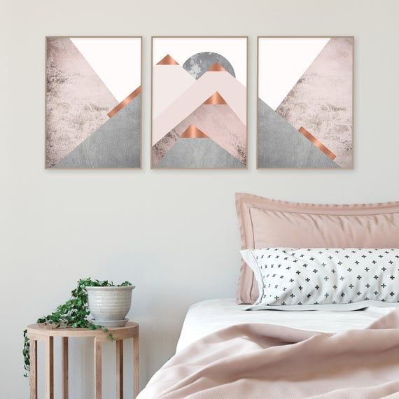 Downloadable Blush Pink Grey And Copper Scandinavian Mountains