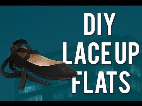 DIY Lace Up Ballet Flats From Old Flats DIY Halloween