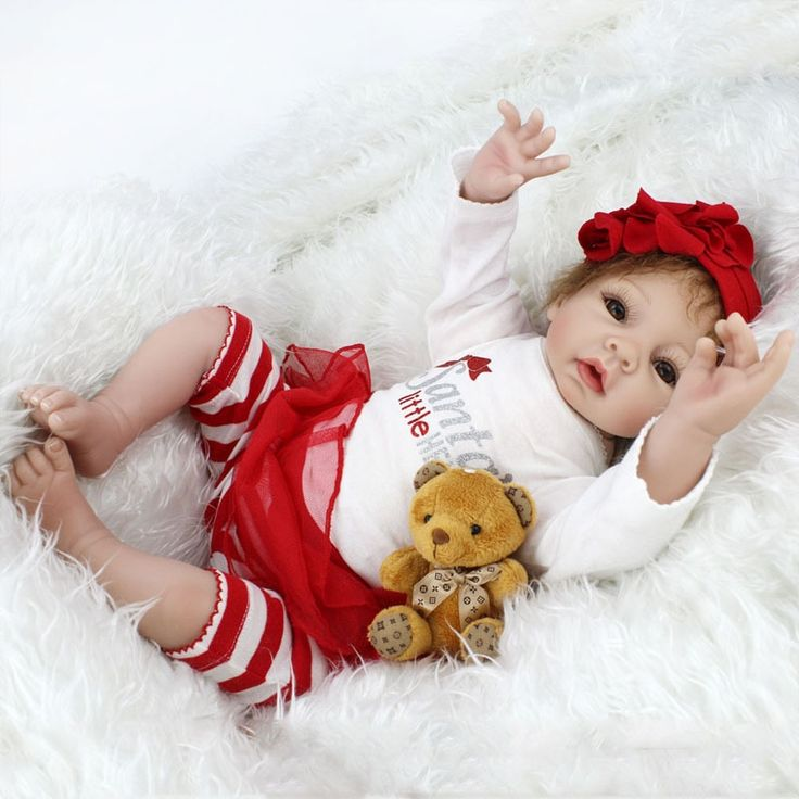 """118.73$  Watch here - http://ali329.shopchina.info/1/go.php?t=32806177739 - """"22"""""""" New Arrival Handmade Silicone Vinyl Adorable Lifelike Toddler Baby Bonecas Girl Kids Doll Reborn Menina De Silicone Best Toy"""" 118.73$ #buyonline"""