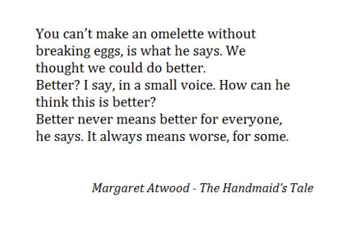 an analysis of the handmaids tale by margaret atwood The paperback of the the handmaid's tale (movie tie-in) by margaret atwood at barnes & noble free shipping on $25 or more.