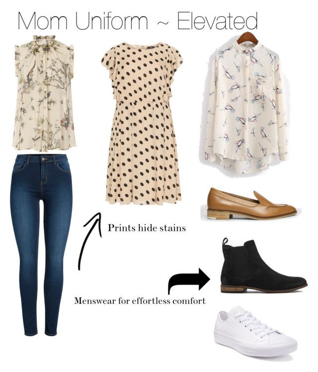 """""""Mom Uniform ~ Elevated"""" by cheryl-eisenschmid on Polyvore featuring Zimmermann, Pieces, Superdry, Everlane, Lovedrobe, WithChic and Converse"""