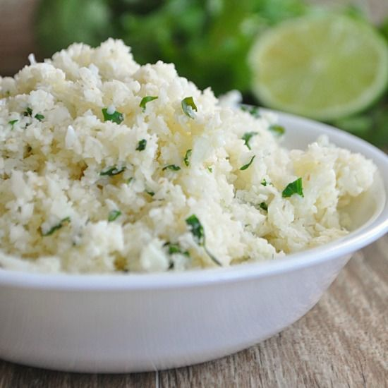 Light and fluffy cilantro lime cauliflower rice I love burrito bowls. I love Mexican food. No matter how you put together the ingredients for Mexican food it always comes out delicious! This ri...