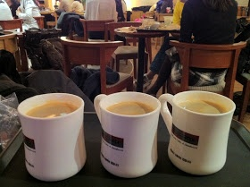Seoul cafes: A Twosome Place (coffee & cake) - one of the better cafe chains