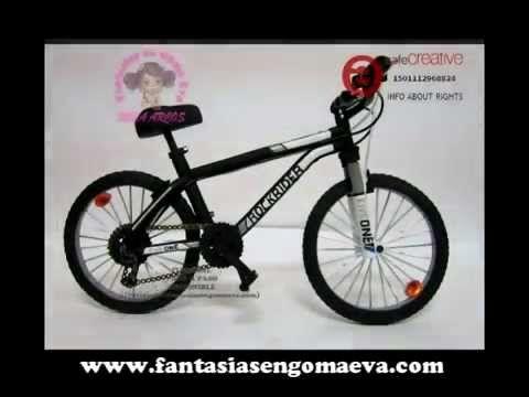 FANTASIAS EN GOMA EVA: Bicicleta de montaña