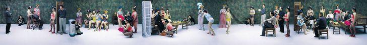 王庆松 Wang Qingsong - chinese contemporary art and photography - Night Revels of Lao Li