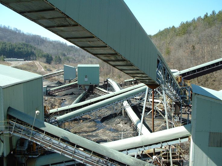 Conveyors for coal transportation at a coal processing plant