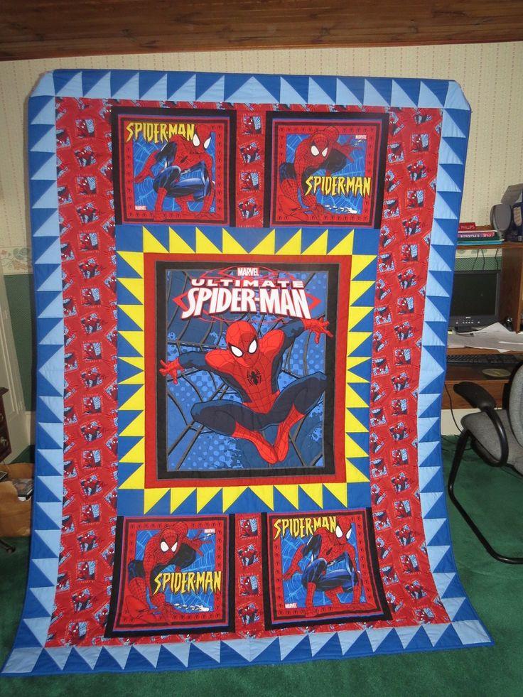 The 14 best images about PANEL on Pinterest | Fat quarters, Quilt ... : spiderman quilt - Adamdwight.com