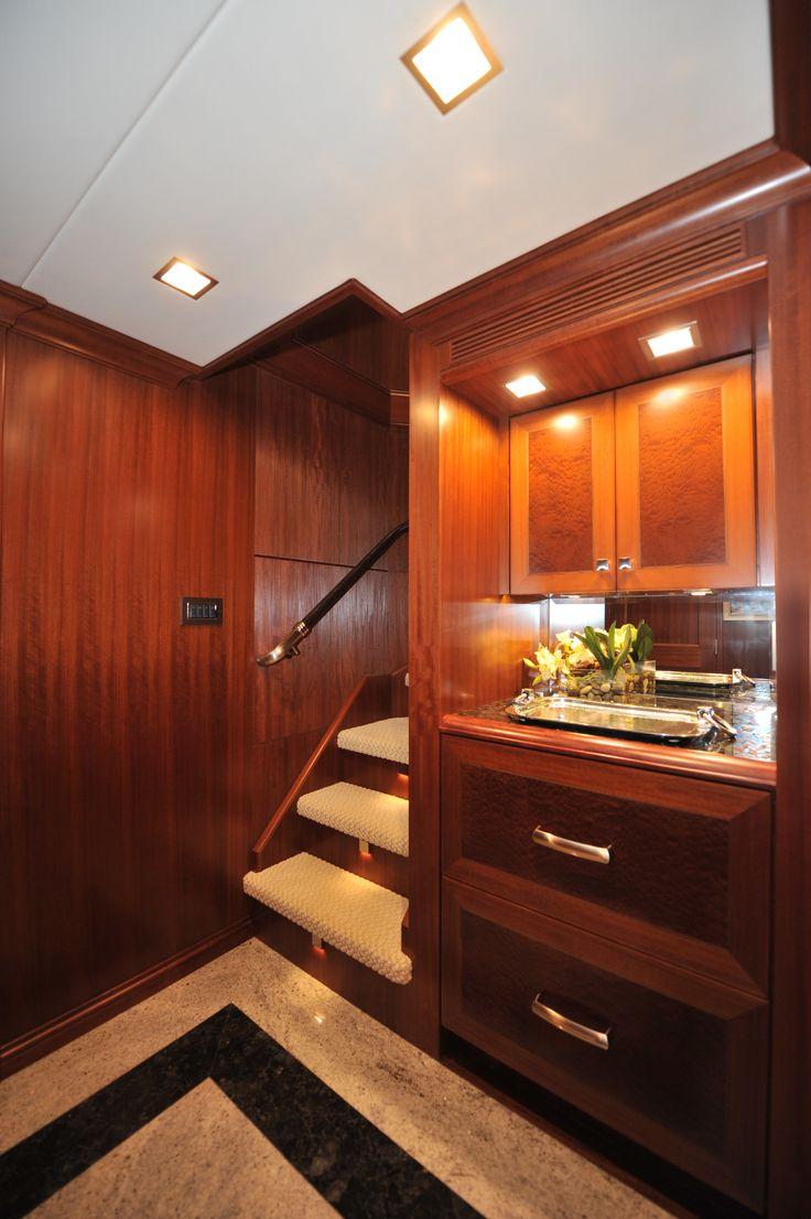 Nordhavn 120 Aft Guest Foyer Custom Yacht Interior Design Destry Darr Design Nordhavn 120