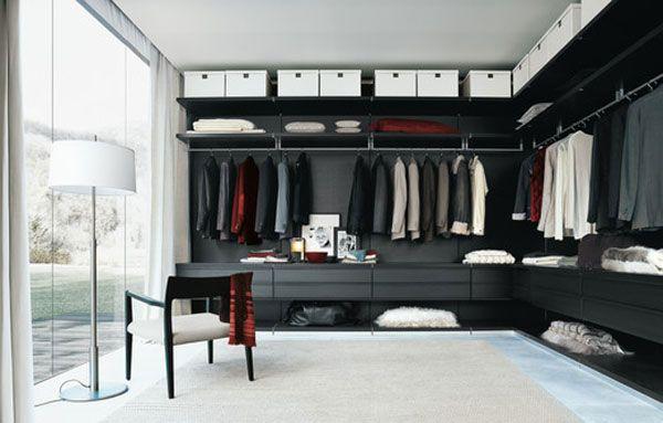 Ikea walk in closet brilliant modern glass door luxury for Modern walk in closets