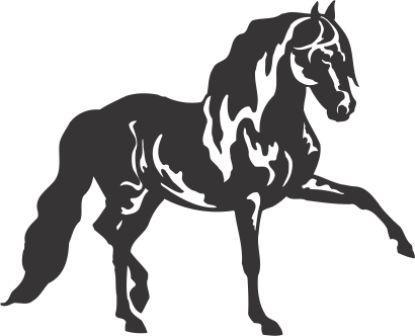 Силуэт лошади AJ