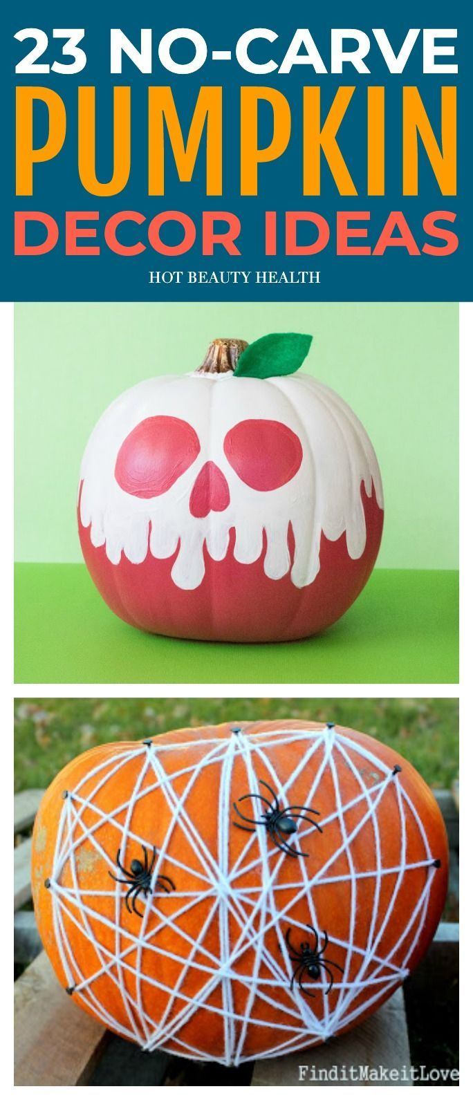 23 No Carve Pumpkin Decorating Ideas That Are Totally Doable