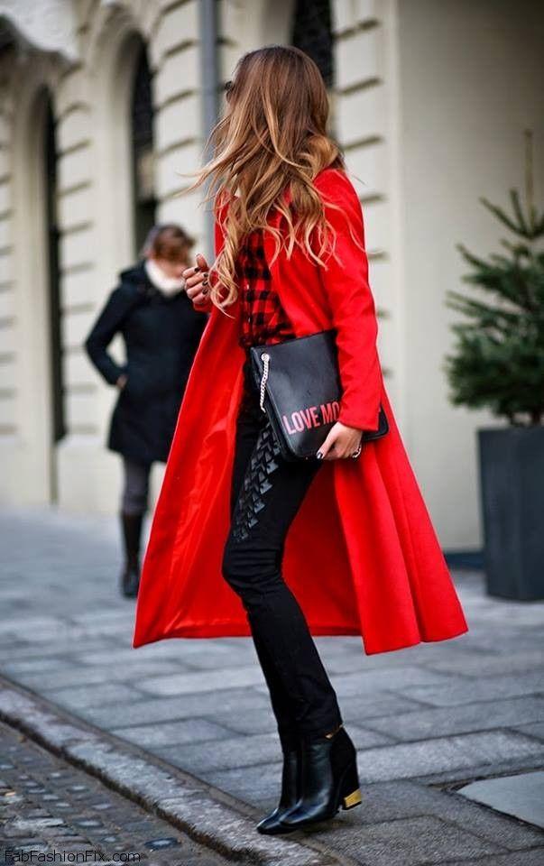 Best 20  Red winter coat ideas on Pinterest | Red winter dresses ...