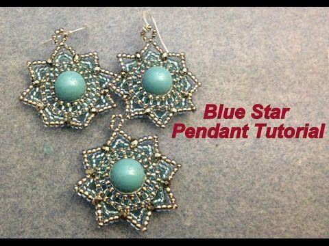 Blue Star Pendant--Intermediate tutorial - YouTube