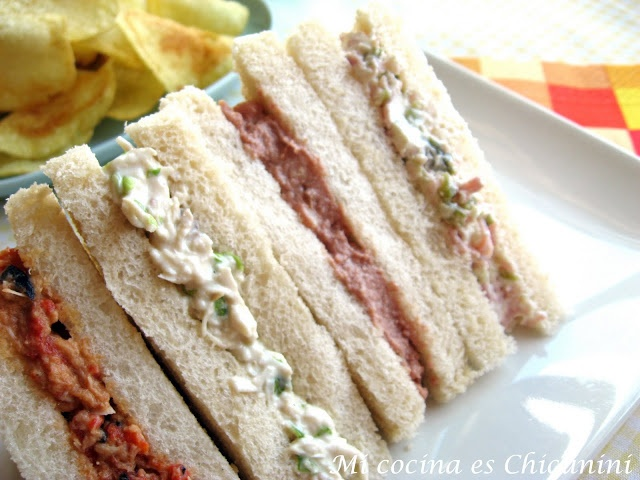 Mi cocina es Chicunini: Pasta para relleno de sandwich, 4 versiones
