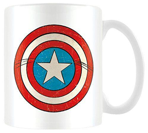 "Marvel MG23442 8 x 11.5 x 9.5 cm, Retro Captain America Schild ""Keramik Becher/Tasse-Farbe, bunt - http://geschirrkaufen.online/marvel-4/marvel-mg23442-8-x-11-5-x-9-5-cm-retro-captain-america"