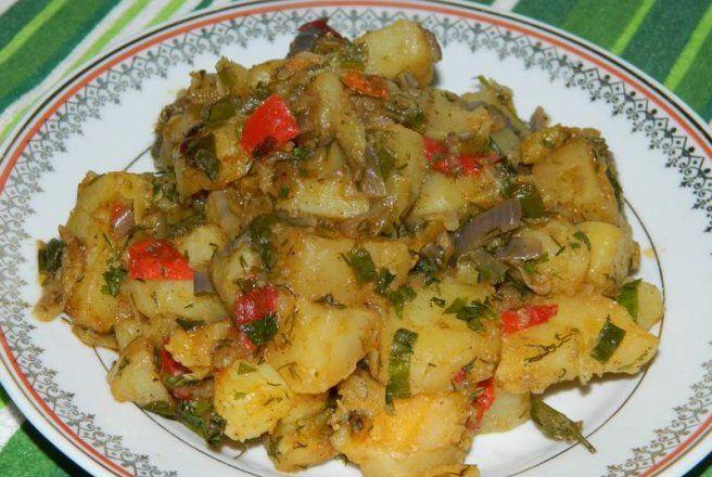 Retete Culinare - Cartofi taranesti de post