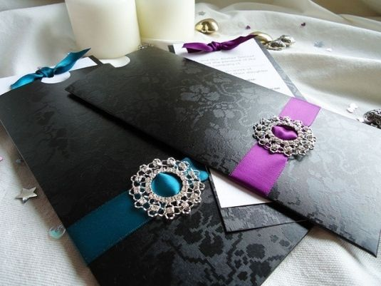These were invitations to a masquerade wedding. You can change colors