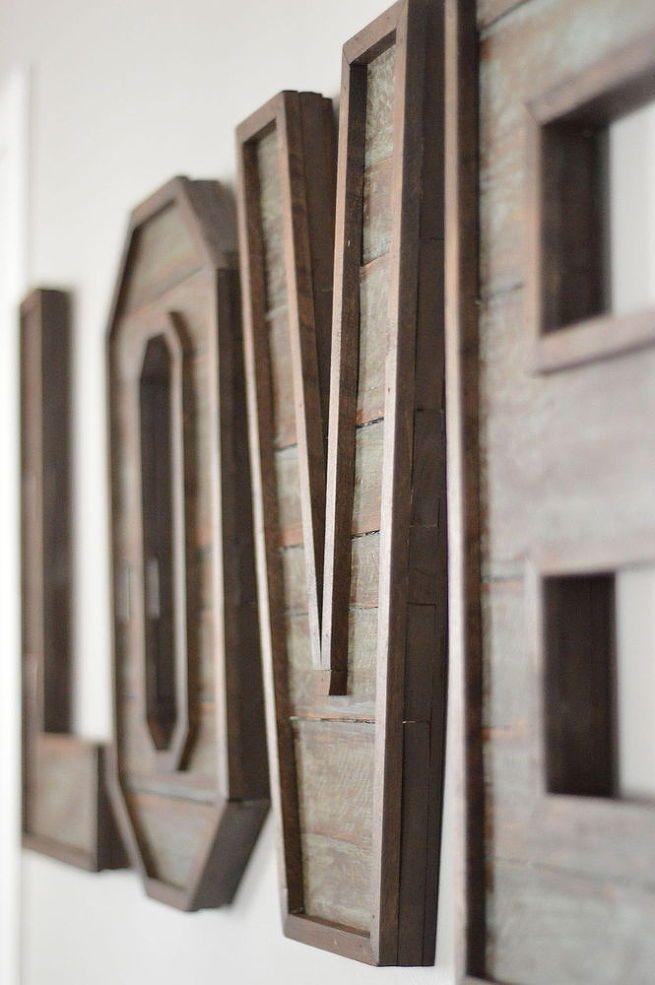 Hometalk :: Pallet Wood Letters
