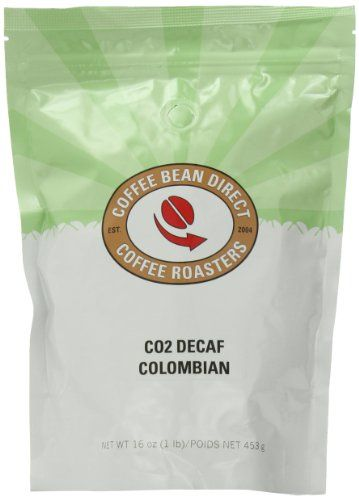 Coffee Bean Direct Co2 Decaf Colombian, Whole Bean Coffee, 16-Ounce Bags -Pack of 3 ** Insider's special review you can't miss. Read more : at Coffee Beans.