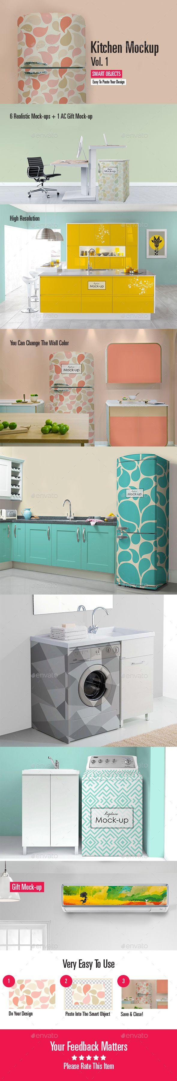 6 poster design photo mockups 57079 - Kitchen Mock Up Vol 1
