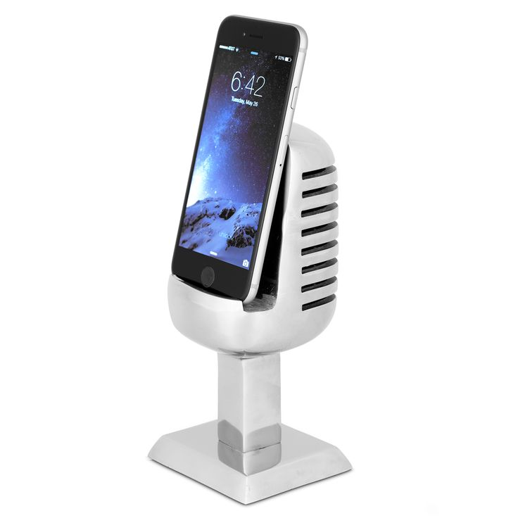 cool microphone cell phone or ipad holder from MUSEUM OUTLETS