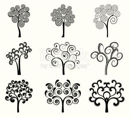 9 variable trees