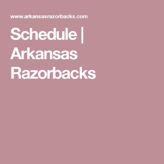 Schedule | Arkansas Razorbacks