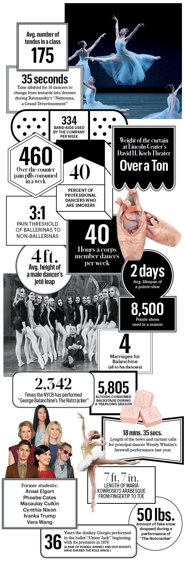 Awesome Ballet Infographic... Ansel Elgort took ballet? @jessiegriley Did you know that?