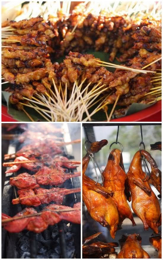 satay, roast duck, ayam percik #Indonesian recipes #Indonesian cuisine #Asian recipes #Asian cuisine http://indostyles.com/