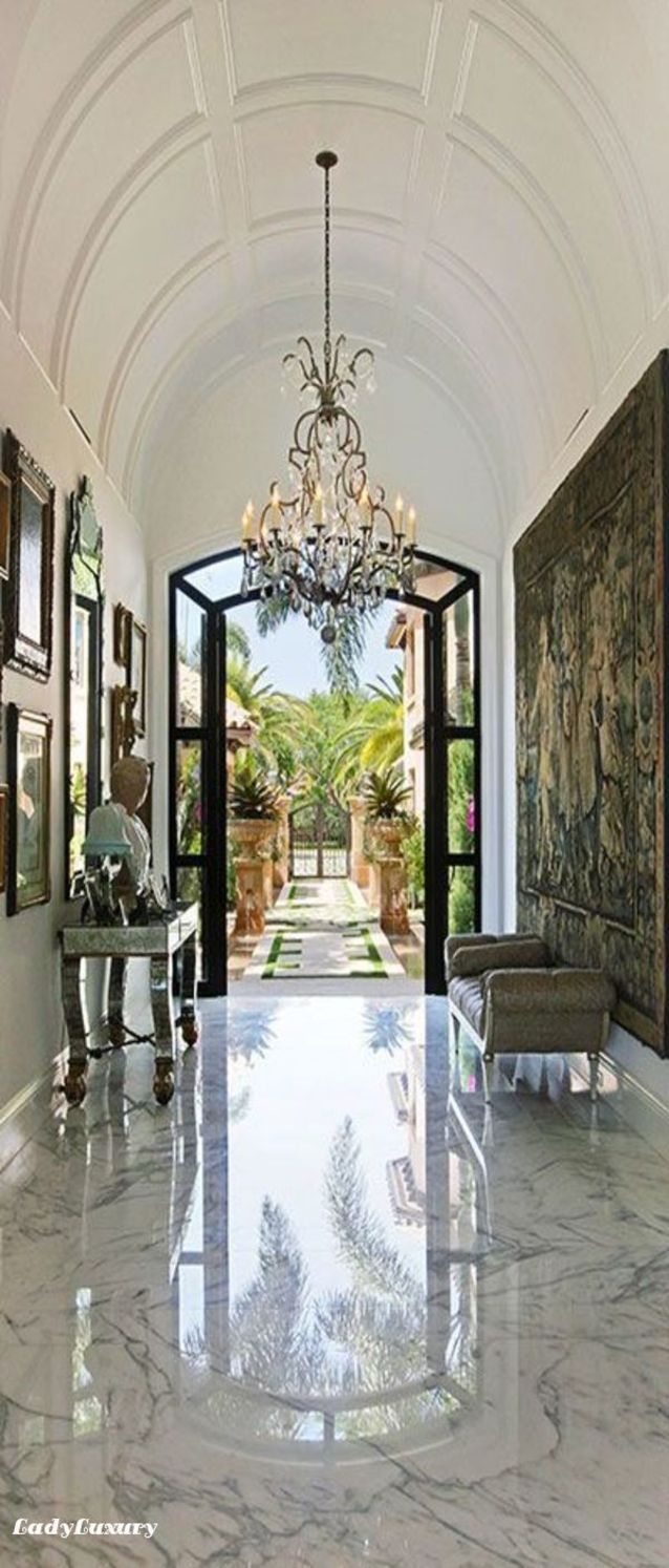 Million Dollar Interiors- Entryway | LadyLuxuryDesigns                                                                                                                                                      More