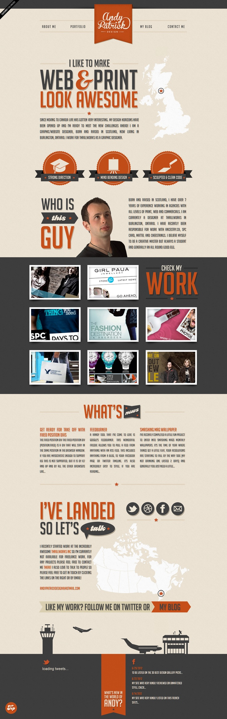 Not green, but nice dull orange - Andy Patrick - Graphic Designer for hire - Ontario, Canada
