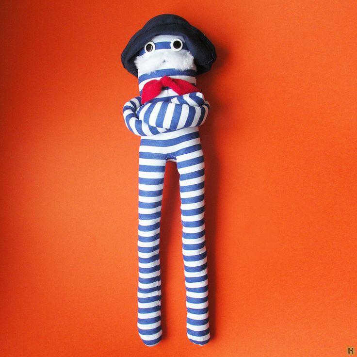 Мягкая авторская игрушка «рыбак»-2