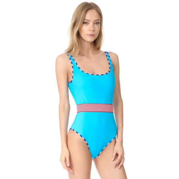 Diane von Furstenberg Classic Swimsuit ($250) ❤ liked on Polyvore featuring swimwear, one-piece swimsuits, scoop back one piece swimsuits, scoop back one piece bathing suit, swimming costume, bathing suit swimwear and diane von furstenberg