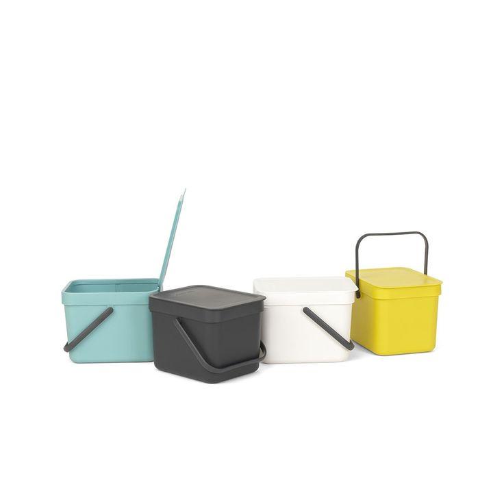 waste bin sort go 6 litres yellow sort go poubelles - Poubelle De Cuisine Jaune